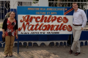 Outside the National Archives in Kinshasa, Democratic Republic of the Congo in July 2014 with Nadia Ilunga '15, who provided valuable research assistance to help collect data for my book with Harry Verhoeven on the cause of Africa's Great War.